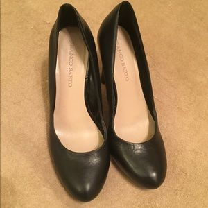 Franco Sarto Black Leather Heels